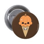 Cute Halloween Ice Cream Cone 2 Inch Round Button
