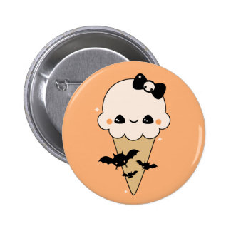 Cute Halloween Ice Cream Cone 2 Inch Round Button
