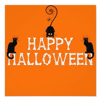 """Cute Halloween Invitation 5.25"""" Square Invitation Card"""