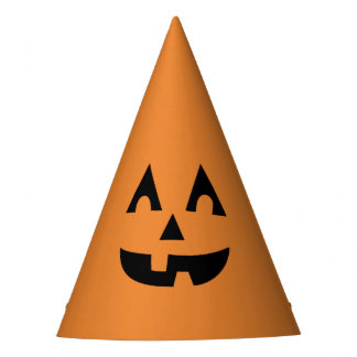 Cute Halloween Jack O Lantern Pumpkin Kids Party Hat