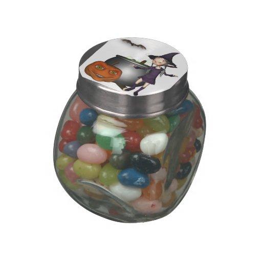 Cute Halloween jellybean jars and tins Glass Jar