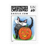 Cute Halloween JOL & Kitten In Mask Stamp Stamps
