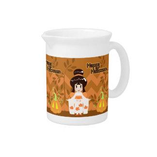 Cute Halloween Kimono Girl Drink Pitchers