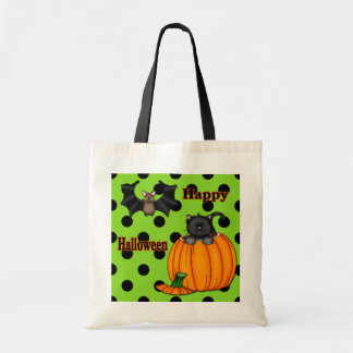 Cute Halloween Kitten, Bat Trick or Treat Bags