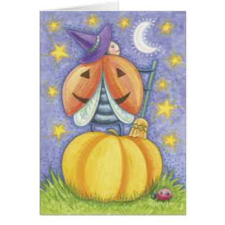 Cute Halloween Lady Bug Card