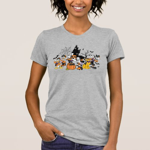 Cute Halloween Mickey and Friends T_Shirt
