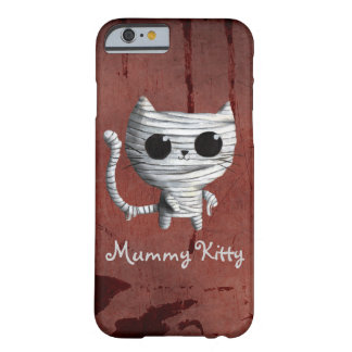 Cute Halloween Mummy Cat Barely There iPhone 6 Case