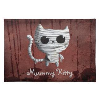 Cute Halloween Mummy Cat Cloth Placemat