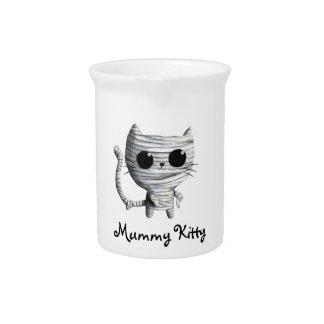 Cute Halloween Mummy Cat Pitchers