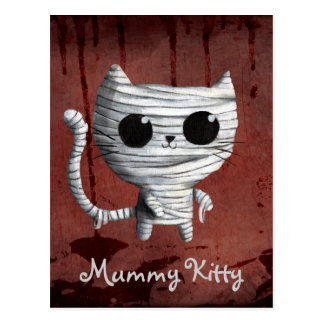 Cute Halloween Mummy Cat Postcard