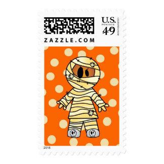 Cute Halloween Mummy Postage Stamp