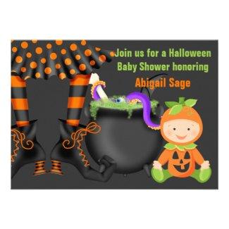 howl o 39 ween fun halloween baby shower invitations