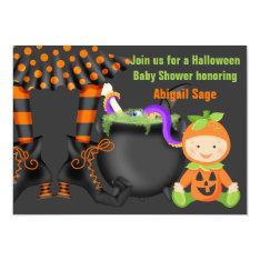 Cute Halloween Neutral Baby Shower Invitation at Zazzle