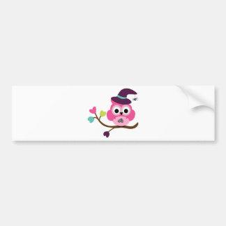 Cute Halloween Owl Bumper Stickers