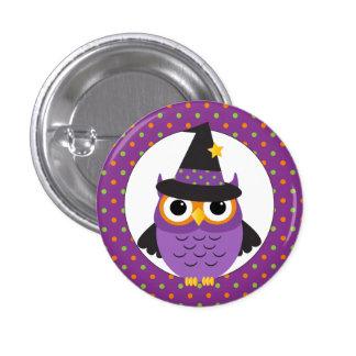 Cute Halloween Owl Button