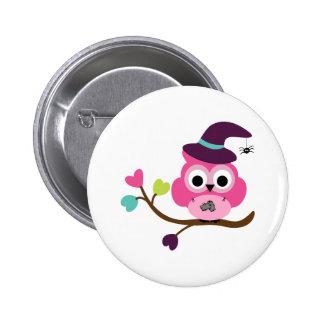 Cute Halloween Owl Buttons