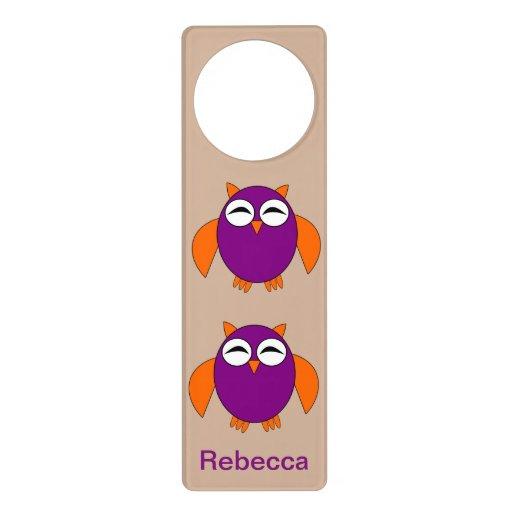 Cute Halloween Owl Custom Door Hanger  Zazzle ~ 102409_Halloween Owl Door Hanger
