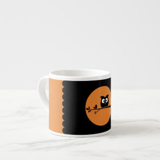 Cute Halloween Owl + customised background colours Espresso Cup