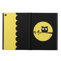 Cute Halloween Owl   customised background colours iPad Air Cover