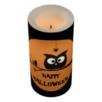 Cute Halloween Owl Flameless Candle