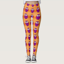 Cute Halloween Owl Leggings