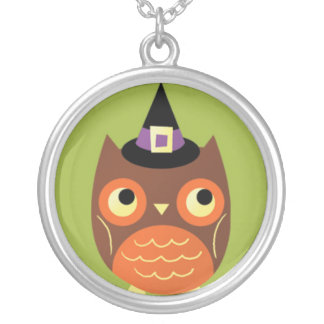 Cute Halloween Owl Pendant