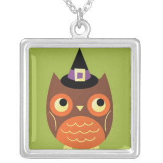 Cute Halloween Owl Personalized Necklace