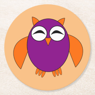 Cute Halloween Owl Paper Coasters