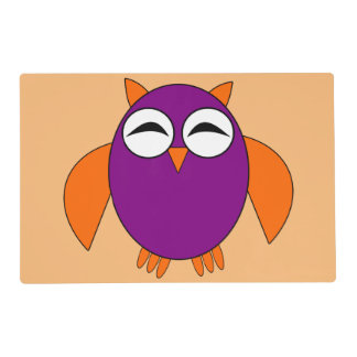 Cute Halloween Owl Personalized Placemat