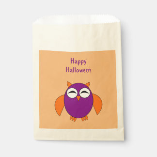 Cute Halloween Owl Personalized Trick or Treat Favor Bag