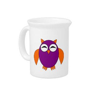 Cute Halloween Owl Pitcher