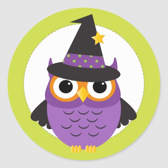 Cute Halloween Owl Stickers