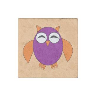 Cute Halloween Owl Stone Magnet