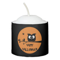 Cute Halloween Owl Votive Candle