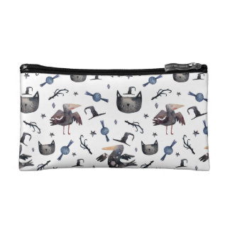 Cute Halloween Painted Patterns (Customizeable BG) Cosmetic Bag