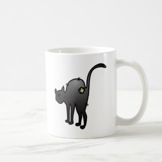 CUTE HALLOWEEN PATCHY CAT - BLACK KITTY COFFEE MUG