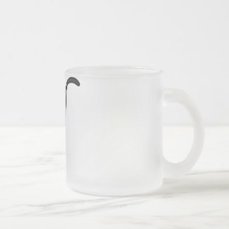 CUTE HALLOWEEN PATCHY CAT - BLACK KITTY FROSTED GLASS COFFEE MUG