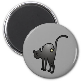 CUTE HALLOWEEN PATCHY CAT - BLACK KITTY MAGNET