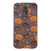Cute Halloween Pattern Purple Background Case For Galaxy S5