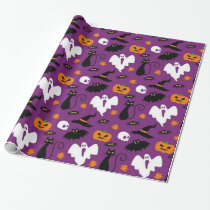 Cute Halloween Pattern Wrapping Paper