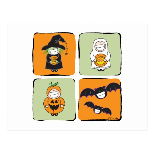 Cute Halloween Postcard