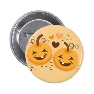 Cute Halloween pumpkin baby faces Pinback Button