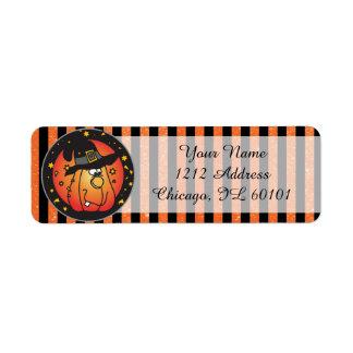 Cute Halloween Pumpkin Label