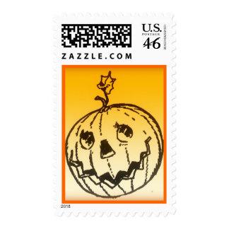 Cute Halloween Pumpkin Postage