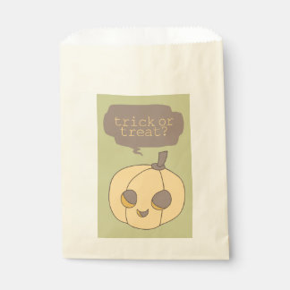 Cute Halloween Pumpkin Trick or Treat Favor Bags