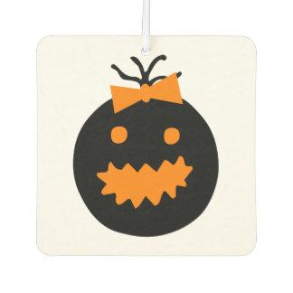 Cute Halloween pumpkin with bow Air Freshener