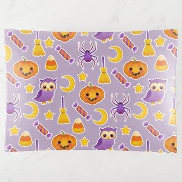 Halloween Themed Cute Halloween Pumpkins Owls Spiders Stars Pattern Trinket Trays