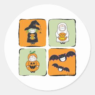 Cute Halloween Round Sticker
