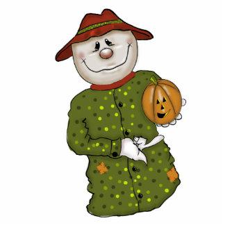 Cute Halloween Scarecrow Decoration Statuette