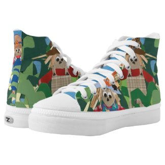 Cute Halloween Scarecrows Printed Shoes